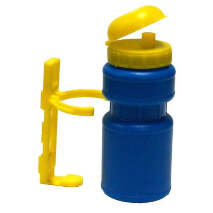 Велосипедная фляга Joy Kie HL-WB15+BC12 250 мл голубая/желтая