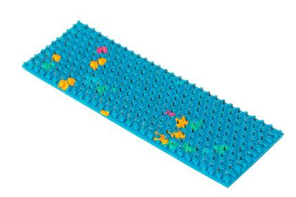 Аппликатор Ляпко коврик Спутник шаг игл 4,9 мм 53х230 мм синий