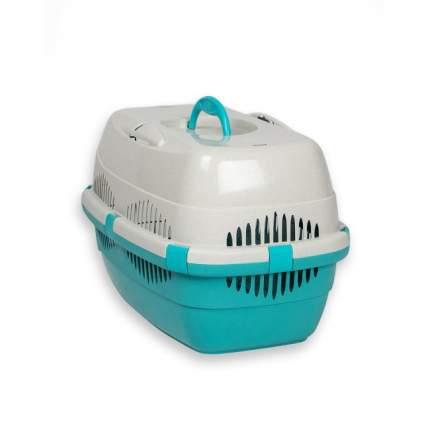Контейнер для кошки, собаки Дарэлл СПУТНИК-ZooM, 33x49x32см голубой, белый, до 12кг