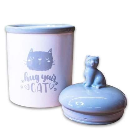 Контейнер для корма КерамикАрт Hug your cat, 1.65л
