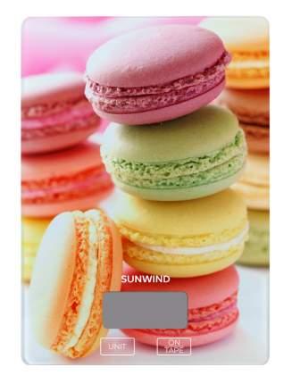 Весы кухонные Sunwind SWS101 рисунок/печенье