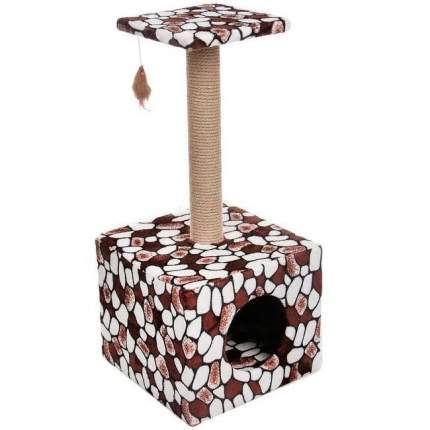 Домик для кошек PerseiLine, Столбик куб с площадкой, 35х30х85см