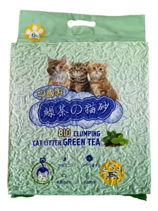 Комкующийся наполнитель для кошек HAKASE AREKKUSU Тофу кукурузный, Зеленый чай, 2.8кг, 6л