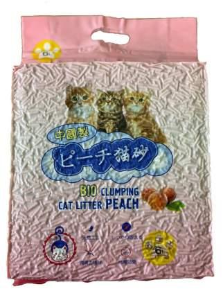 Комкующийся наполнитель для кошек HAKASE AREKKUSU Тофу кукурузный, Персик, 2.8 кг, 6 л,