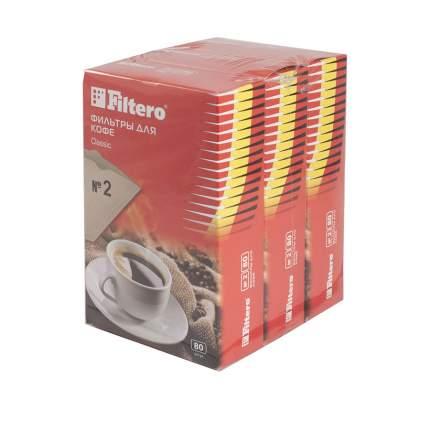 Фильтр универсальный для кофеварок Filtero №2 коричневые 240 шт