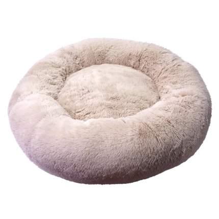 Лежанка для кошки, собаки ЗООГУРМАН Пушистый сон, искусственный мех 45x45x14см бежевый