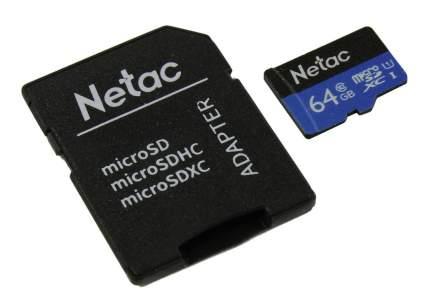 Карта памяти Netac P500 microSDXC 64GB (NT02P500STN-064G-R)