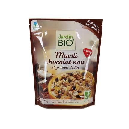 Мюсли Jardin bio с горьким шоколадом и семенами льна 375 г