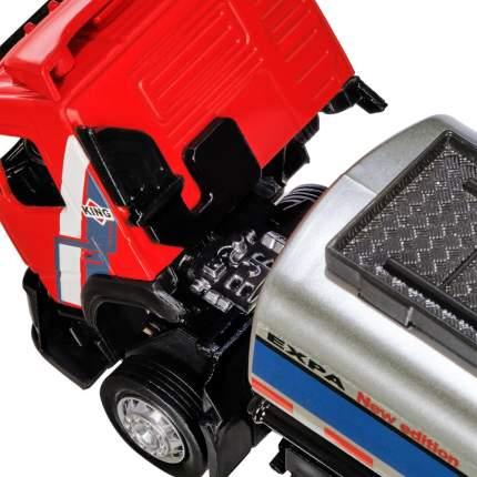 Машинка Автопанорама  цельнометаллическая (кузов и кабина) Volvo бензовоз 1:50 JB1251182
