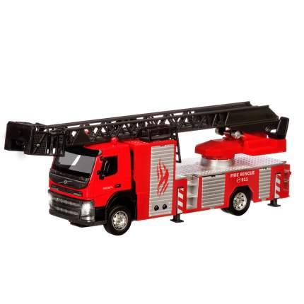 Машинка Автопанорама цельнометаллическая Volvo пожарная машина 1:50 JB1251185
