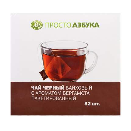 Чай черный Просто Азбука с ароматом бергамота 52*1.8 г