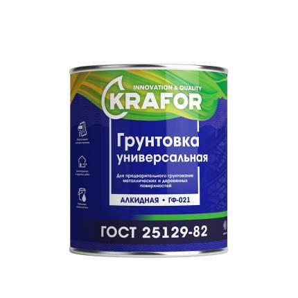 """Грунт ГФ-021 серый 2,7 кг """"Krafor"""""""