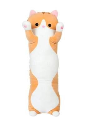 Мягкая игрушка подушка обнимашка длинный Кот Батон 100 см, Рыжий