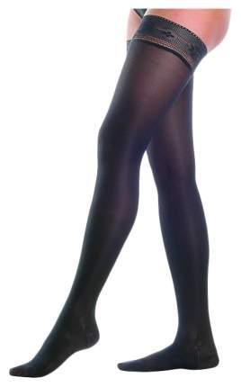 Чулки женские с ажурным верхом, полупрозрачные 2 класс 222 Orto Черный, р.XXL