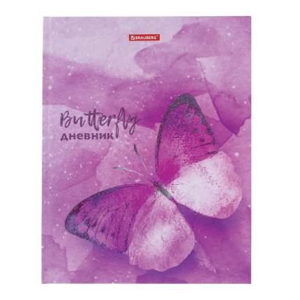 """Дневник 5-11 класс 48 л, твердый, BRAUBERG, блестки, с подсказом, """"Бабочка"""", 105595"""