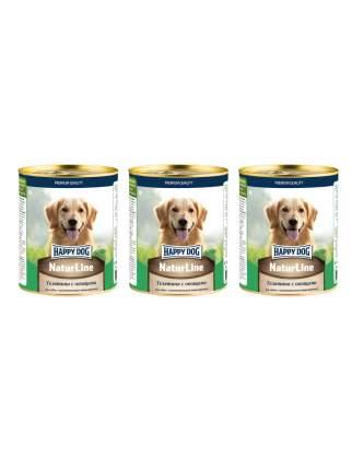 Консервы для собак Happy Dog Natur Line, телятина с овощами  3 шт по 0,97 кг
