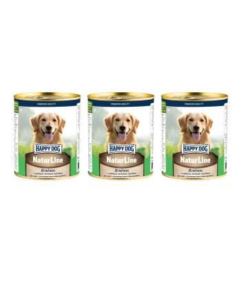 Влажный корм для собак Happy Dog Natur Line ягненок с сердцем и печенью  3 шт по 0,97 кг