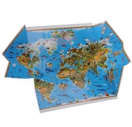 Складная карта Мира. Обитатели земли, арт. К25
