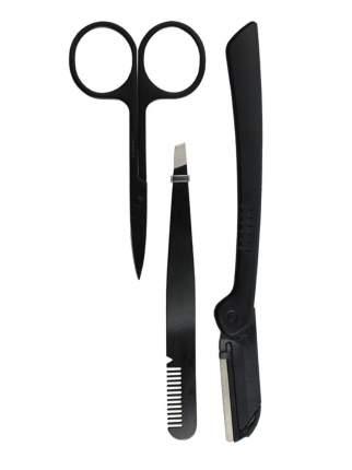 Набор 3 предмета Beautypedia : Ножницы из нержавеющей стали 1шт, пинцет, бритва для бровей