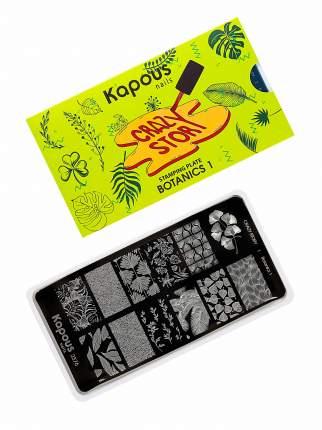 Пластина CRAZY STORY для стемпинга KAPOUS PROFESSIONAL botanics №1 1 шт