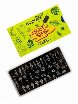 Пластина CRAZY STORY для стемпинга KAPOUS PROFESSIONAL botanics №4 1 шт