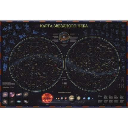 Интерактивная карта Зведного Неба ламинированая, 101*69 см