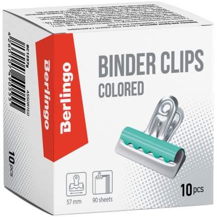 Зажимы-бульдоги для бумаг, 57 мм, 10 штук, цветные