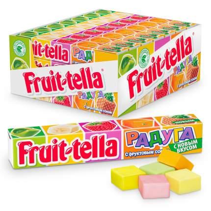 Конфеты жевательные Fruittella Радуга со вкусом клубники смородины апельсина и банана 41г
