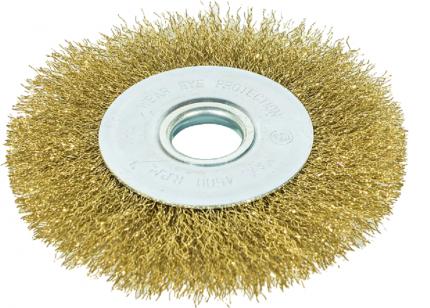 Щетка-крацовка дисковая для УШМ , латунированная проволока, 125 мм GROSSMEISTER 021018002