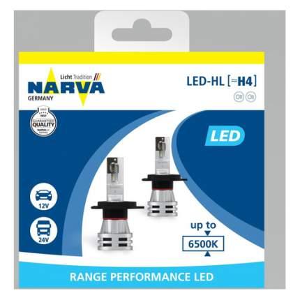 Лампа автомобильная светодиодная NARVA 18032,  H4,  12/24В,  24Вт,  6500К,  2шт