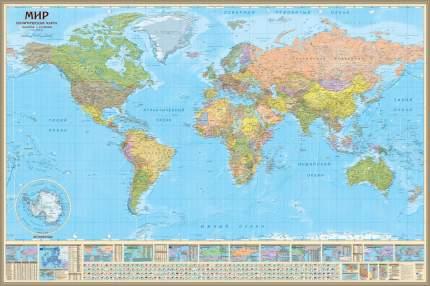 Политическая настенная карта Мира, 1:14М