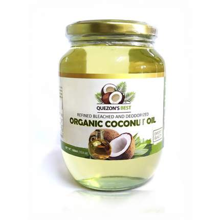 Масло кокосовое QUEZON'S BEST органическое рафинироанное 500 мл