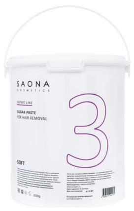 Сахарная паста Saona Cosmetics для депиляции Soft №3 мягкая 3500 г
