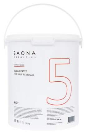 Сахарная паста Saona Cosmetics для депиляции Hot № 5 твердая 3500 г