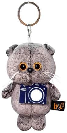 Мягкая игрушка-брелок Basik&Ko Кот Басик с фотоаппаратом 12 см