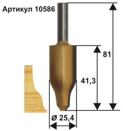 Фреза фигирейная вертикальная ф25,4 x 41,3 мм хвостовик 12 мм Энкор 10586