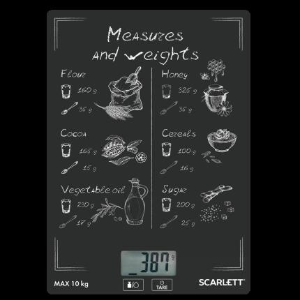 Весы кухонные Scarlett SC-KS57P64 Black