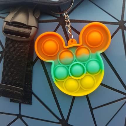 Игрушка-антистресс брелок Pop It для ключей и рюкзака бесконечная пупырка, мышка