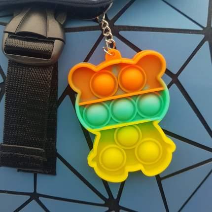 Игрушка-антистресс брелок Pop It для ключей и рюкзака бесконечная пупырка, мишка