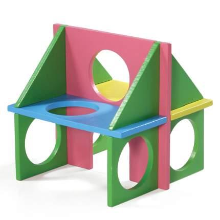 Игрушка для грызунов Triol Little Town дерево, разноцветный 12.5х12.5х12.5 см