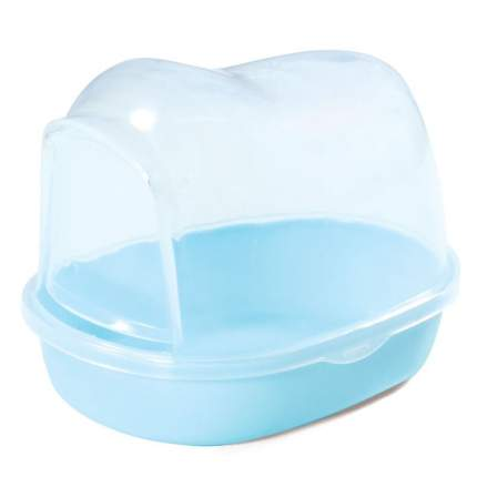 Купалка для мелких животных Triol, пластик, 10 х 13 х 9,5 см, голубой