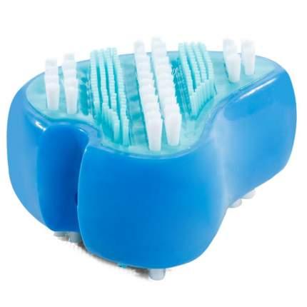 Зубная щетка для собак Triol Клык, нескользящая ручка, голубой, 7 см
