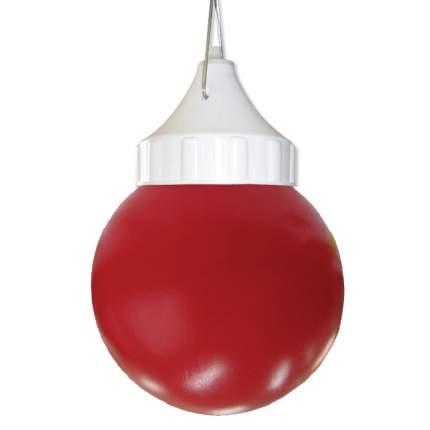 """Подвесной светильник ЭЛЕТЕХ """"Шар"""" 150 НСП 03-60-001 красный ПЭ корпус пластик белый"""