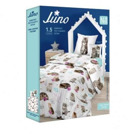 Комплект постельного белья Тейковский ХБК Juno (70х70) Grey kittens 1,5-спальный