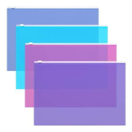 ZIP-пакет пластиковый ErichKrause Fizzy Vivid, A4, ассорти (в пакете по 12 шт.)