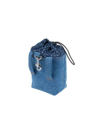Сумка для лакомств AmiPlay Denim 10х7х14 см, голубая