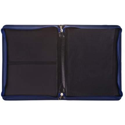 Папка художника А3 ArtSpace, синий с рисунком, ткань, с карманами, на молнии