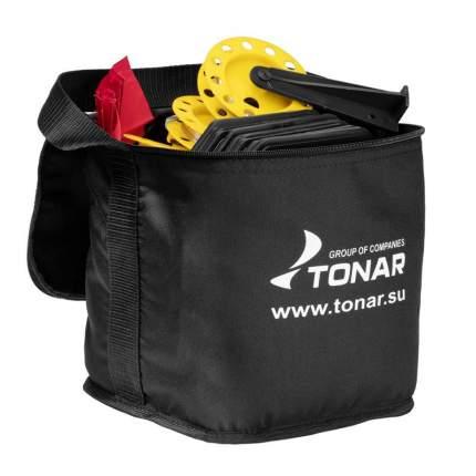 Набор жерлиц оснащенных 10 шт Тонар ЖЗО-04 в сумке, подставка 185, катушка 63 мм