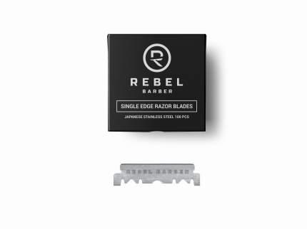 Сменные лезвия для опасных бритв Rebel Barber Single Blade 100 шт.