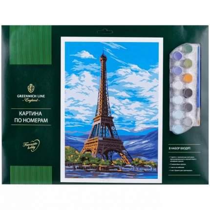 """Картина по номерам Greenwich Line """"Париж"""" A3, с акриловыми красками, картон, европодвес"""